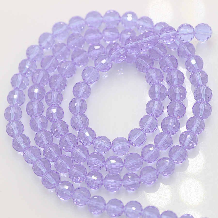 ZHUBI Charms Tschechischen Facettierte Glas Perle 100 stücke 6mm Lose Spacer Perlen für Armband Machen Frauen Zubehör Handwerk Perlen