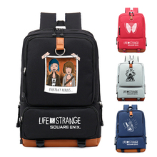 New Life is Strange Cosplay Backpack Canvas Student Schoolbag Unisex Travel Bags