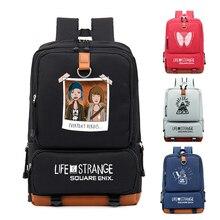새로운 인생은 이상한 코스프레 배낭 캔버스 학생 Schoolbag 남여 여행 가방