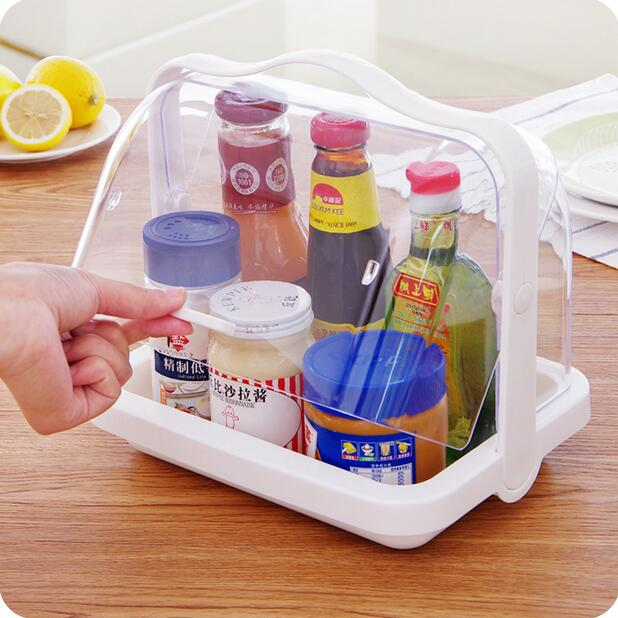 Portable With Lid Dishes Organizer Tableware Storage Rack Creative Tea Set Food Storage Box-in Storage Boxes & Bins from Home & Garden    1