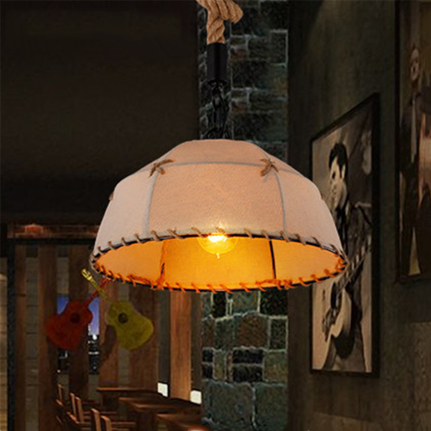 lamparas rope pendant lights retro Nordic Edison lamp hanging Loft light Antique Adjustable vintage industria light fixtures vintage nordic retro edison bulb light chandelier loft antique adjustable diy e27 art spider pendant lamp home lighting