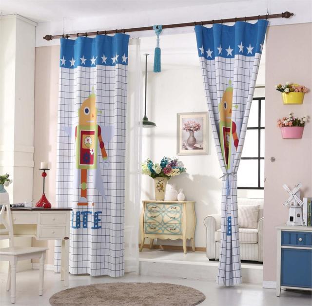 Vorhänge Für Regale die neue kinderzimmer vorhänge schatten tuch vorhang roboter sher