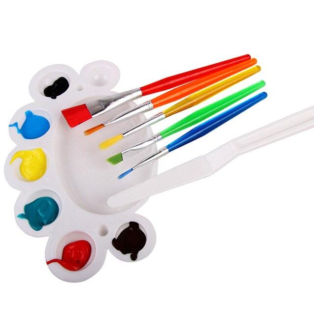 7 Teile/satz Baby Malerei Pinsel Set Mit Ton Messer Handwerk ...