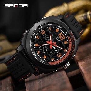 Image 4 - SANDA degli uomini di marca di sport di modo della vigilanza del LED degli uomini impermeabile orologio digitale G casuale di vibrazione orologio militare Relogio Masculino