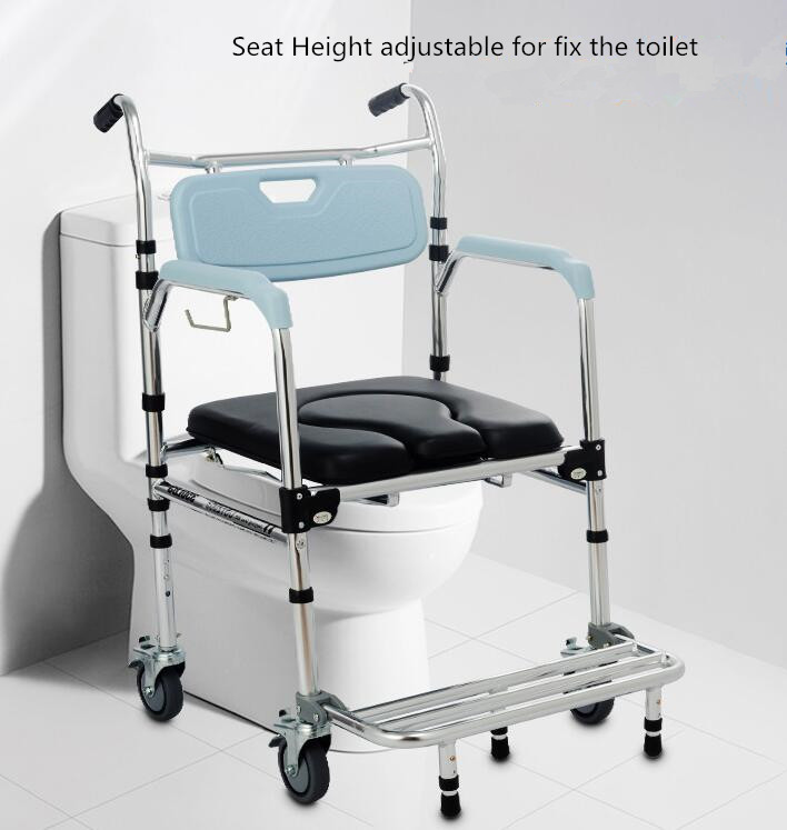 Awe Inspiring Us 199 0 Shower Mobile Commode Chair Shower Wheelchair Toilet Seat Toilet Chair With Footrests For Patient Old People Household Elederly In Bathroom Frankydiablos Diy Chair Ideas Frankydiabloscom