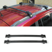 BBQ FUKA Pair Alloy Car Top Roof Luggage Rack Baggage Holder For Jeep Compass 2011 2016