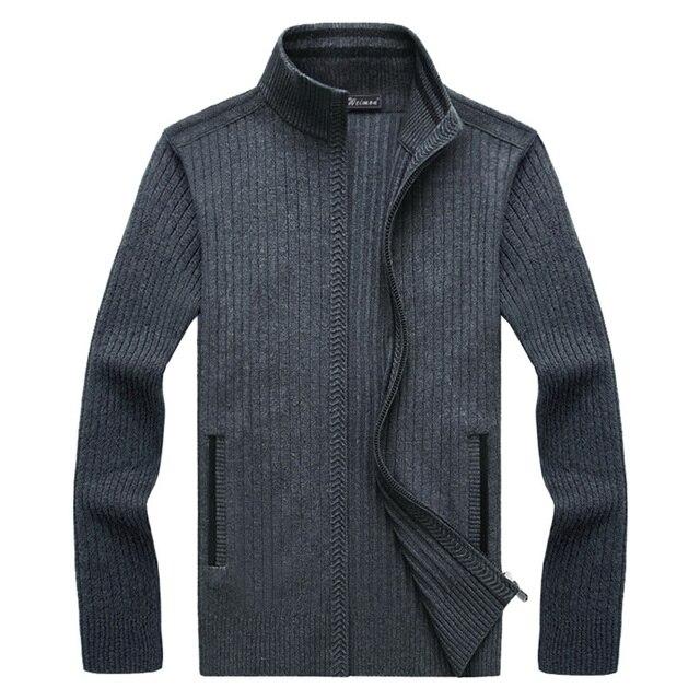 5dcb6b171781 Мужская модная одежда 2019, теплый свитер с длинным рукавом, осенний  кардиган, мужские свитера, пальто, трикотаж для мужчин