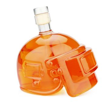 600 ML Head wódka butelka czaszka głowy butelki kask whisky karafka szkło kryształowe karafka do wina butelka Bar narzędzie 301-0839 tanie i dobre opinie Przybory barowe NoEnName_Null Karafki Ekologiczne