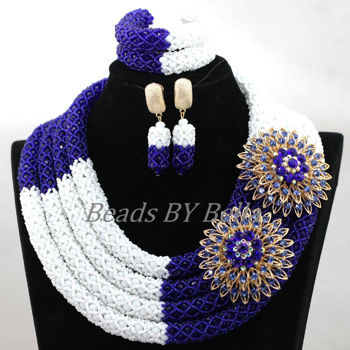 Chunky 4 Layers Nigerian Wedding African Beads Handmade Bridal Jewelry Set Women Statement Necklace Sets Free Shipping ABK951Chunky 4 Layers Nigerian Wedding African Beads Handmade Bridal Jewelry Set Women Statement Necklace Sets Free Shipping ABK951