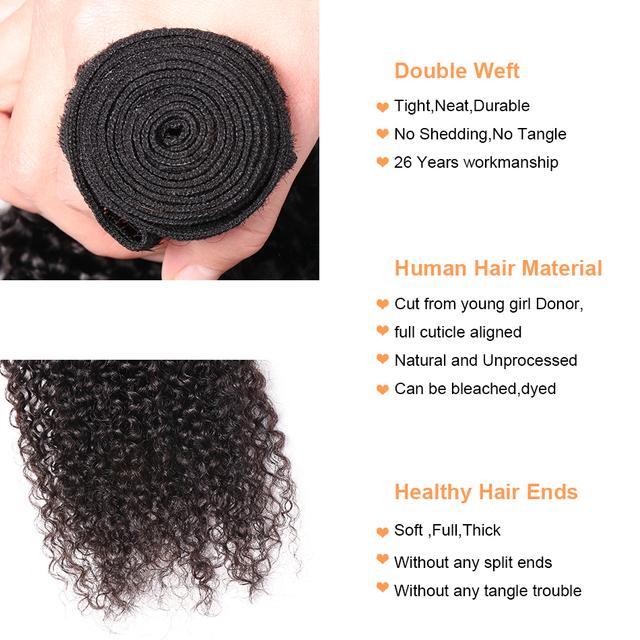 Hair Bundles Brazilian Curly Human Hair Bundles Remy Hair Weaves