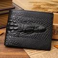 alligator top cow genuine leather wallets for men 2016 Crocodile pattern Exquisite craft fashion design