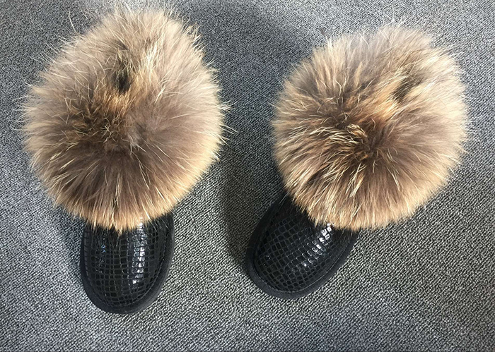 100% Genuine Sheepskin Leather Snow Boots Waterproof  Boots Warm Wool Natural Fur Winter Boots Women Boots