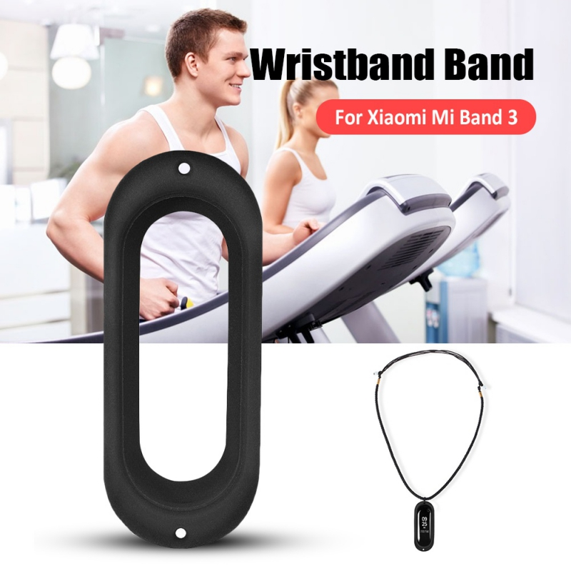 Silicone Smartwatch Case <font><b>Necklace</b></font> Pendant Silicone Wearable Bracelet Protective Cover For <font><b>Xiaomi</b></font> <font><b>Mi</b></font> <font><b>Band</b></font> <font><b>3</b></font> image