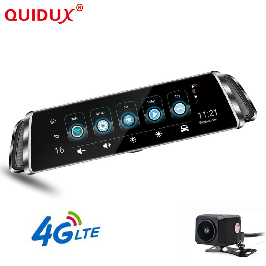 QUIDUX 4G voiture dvr dash caméra IPS écran tactile ADAS double lentille FHD 1080 P voiture enregistreur vidéo GPS navigation dashcam bluetooth WIFI