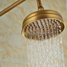 цена на Antique Bronze Brass Shower Head Top Over Head Water Saving Bathroom Shower Sprayer Rainfall Shower Heads Ksh009