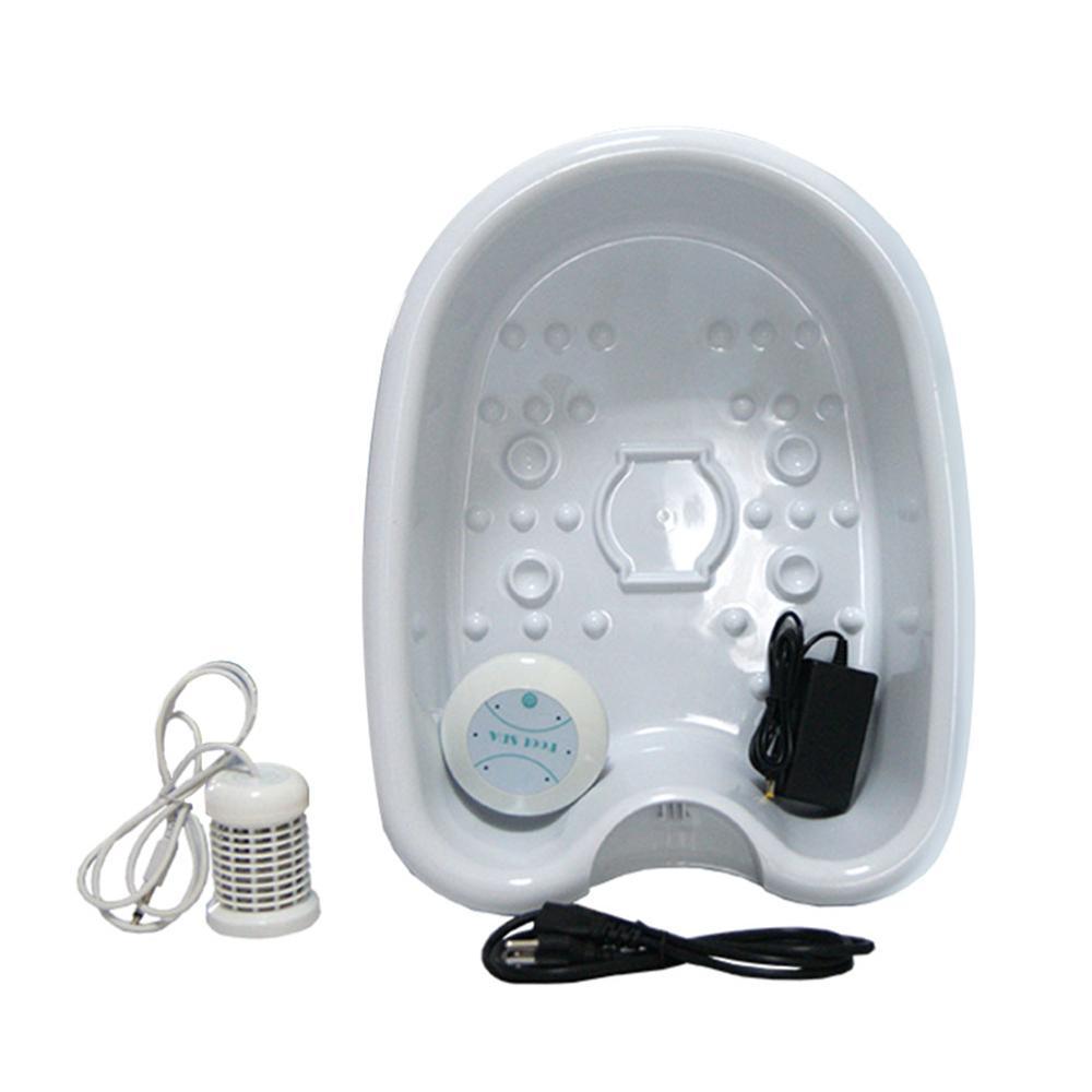 Ionique nettoyer désintoxication pied spa avec plastique pied baignoire seau bain de pied désintoxication dispositif ionique désintoxication machine