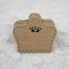Ear Studs Card Tag Marking Label Tags Necklace/Earring/Hairpin/Pendant Packing Cards Jewelry Displays paper Kraft Paper 10Pcs(China)