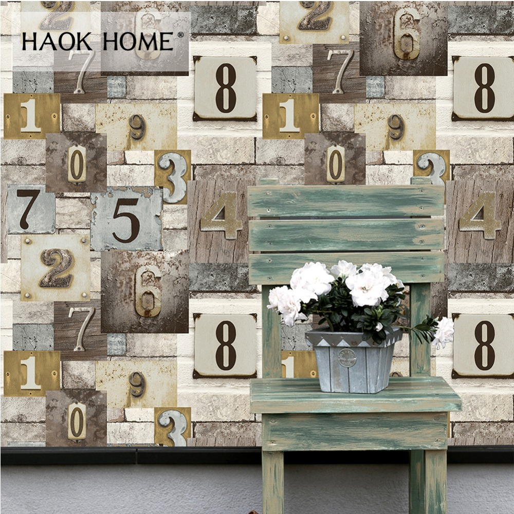 Haokhome Vintage Distressed Wood PVC Wallpaper Weathered Murals for wall 3d Grey/Brown/Beige Living Room Bedroom Home Decoration home decoration 3d bathroom wallpaper retro nostalgic wood love wallpapers for living room 3d wall murals page 9