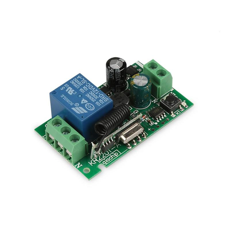 433MHz Universal Wireless Remote Control Switch AC 85V-250V 1CH 433 MHz RF Remote Control Relay Receiver Module Learning Code ac 85v 250v 1ch rf wireless remote control switch system 1 transmitters