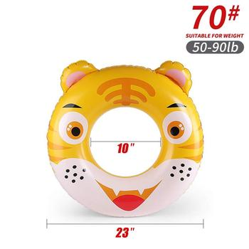Cartoon baby accessories kids penguin float swimming ring durable children summer swim pool accessories circle floating - K5007-70