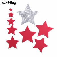 1 Set Big Star Cutting Dies Stencils For Painting DIY Scrapbooking Embossing Folder Decorative Card Making Paper Craft Supplies