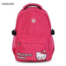 Hello Kitty милый школьный Многофункциональный рюкзак для малыш девушки мультфильм softback sofft ручка молния женщины рюкзак