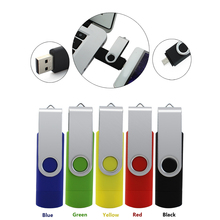 2017 Fashion Metal otg Usb 2.0 Dual Usb 8GB 16GB 32GB 64 gb Usb Flash Drive colorful Pendrive usb memory stick gift