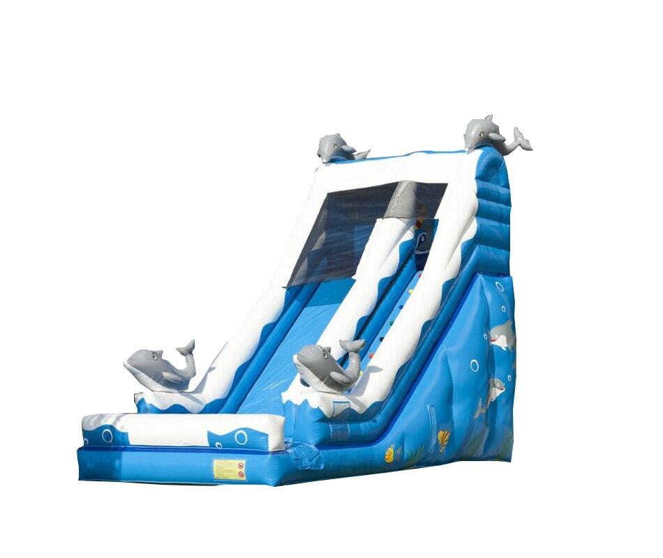 Designer Dolphin Slide  giant inflatable happy slide jumping placesDesigner Dolphin Slide  giant inflatable happy slide jumping places