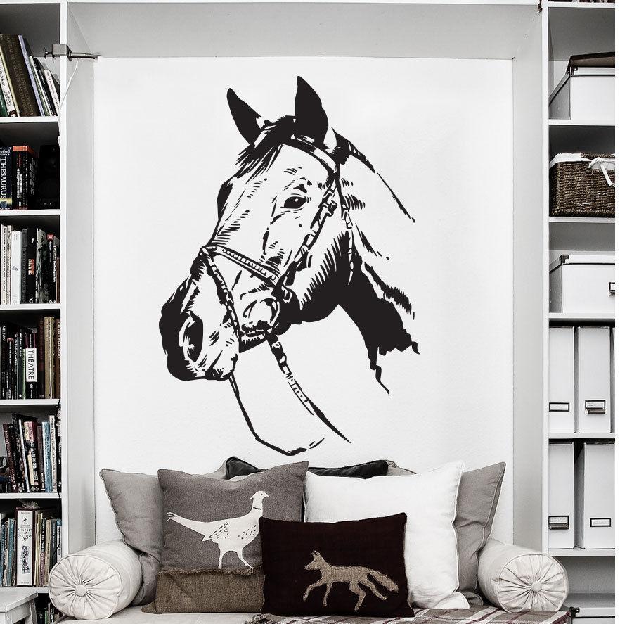 """Cavalo Engraçada Desenho Animado Decalque Adesivo Para-choques de carro /""""Tamanhos/"""""""