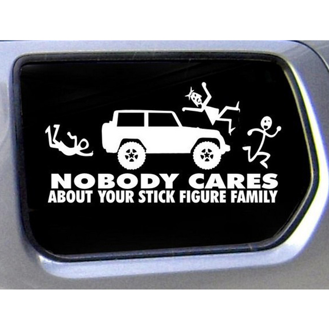50 pieces lot wholesale family nobody about your stick figure family truck funny