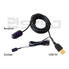 U101A USB IR Repeater Kit, Infrared Remote Control Extender Repeater , Hidden IR Repeater System with 1 Emitters 1 Receiver(China)
