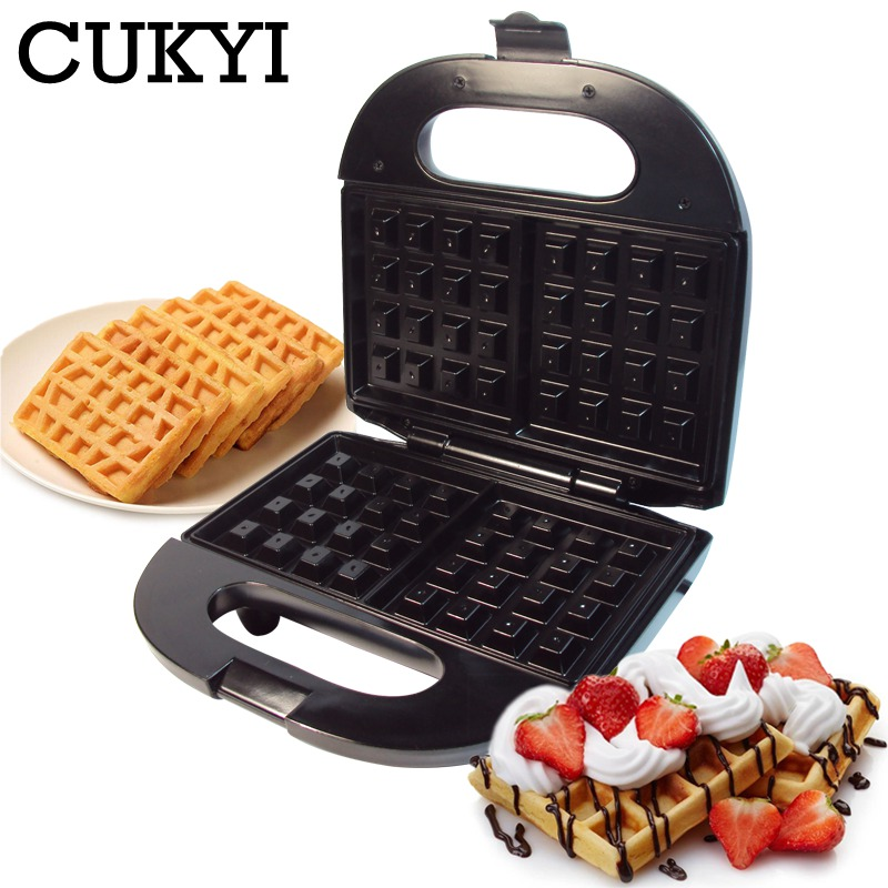CUKYI Electric Waffles Maker Electric Sandwich Iron Muffin Multifunctional Breakfast Machine Bubble Egg Cake Oven For Kitchen EU
