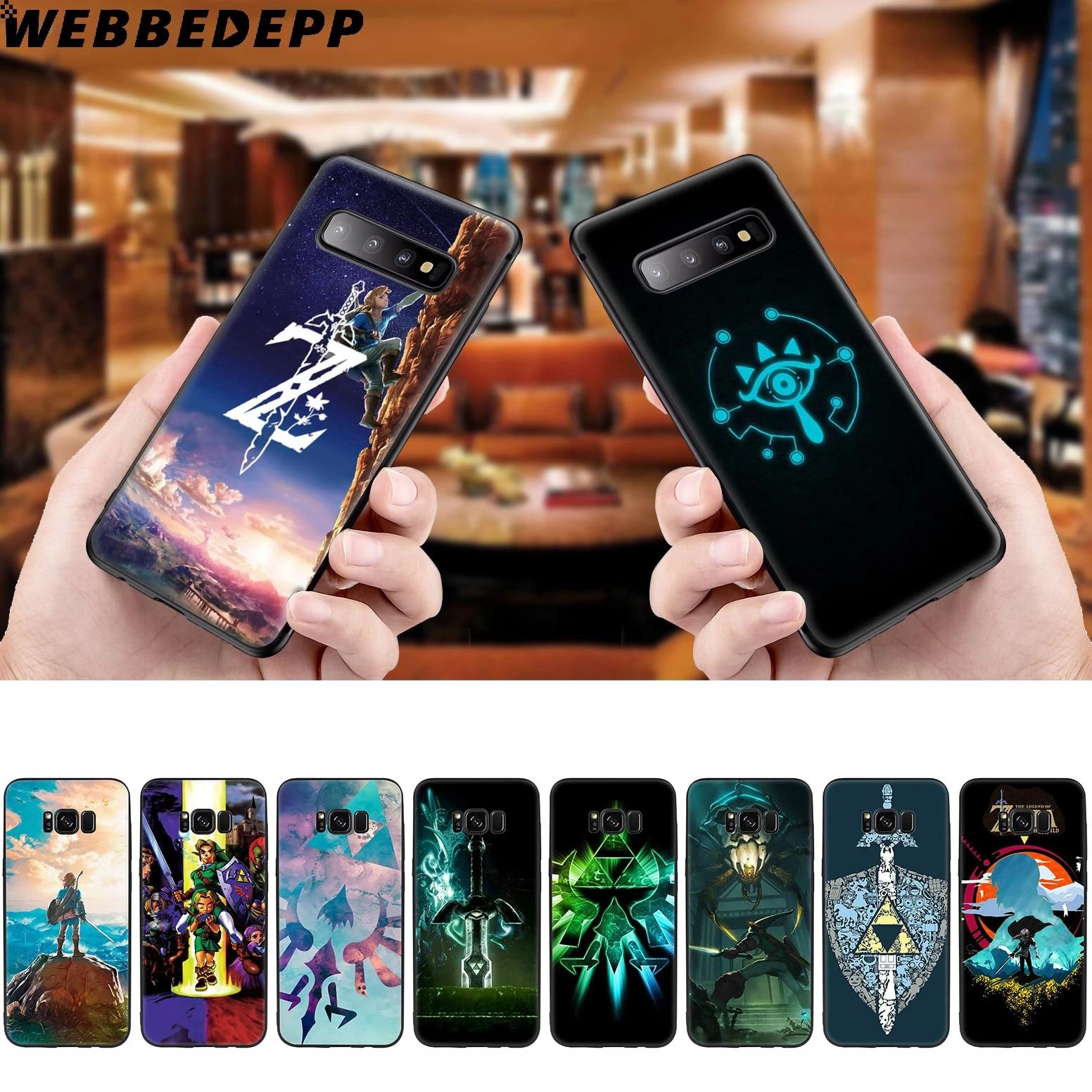 WEBBEDEPP la légende de Zelda coque souple pour Samsung Galaxy S10 S10e S9 S8 Plus S7 S6 Edge S9 Plus & J6 2018 Note 10 Plus 9 8