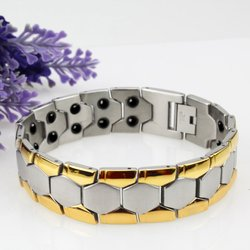 Genboli 2017 new fashion jewelry magnetic titanium bio energy bracelet for men blood pressure health care.jpg 250x250