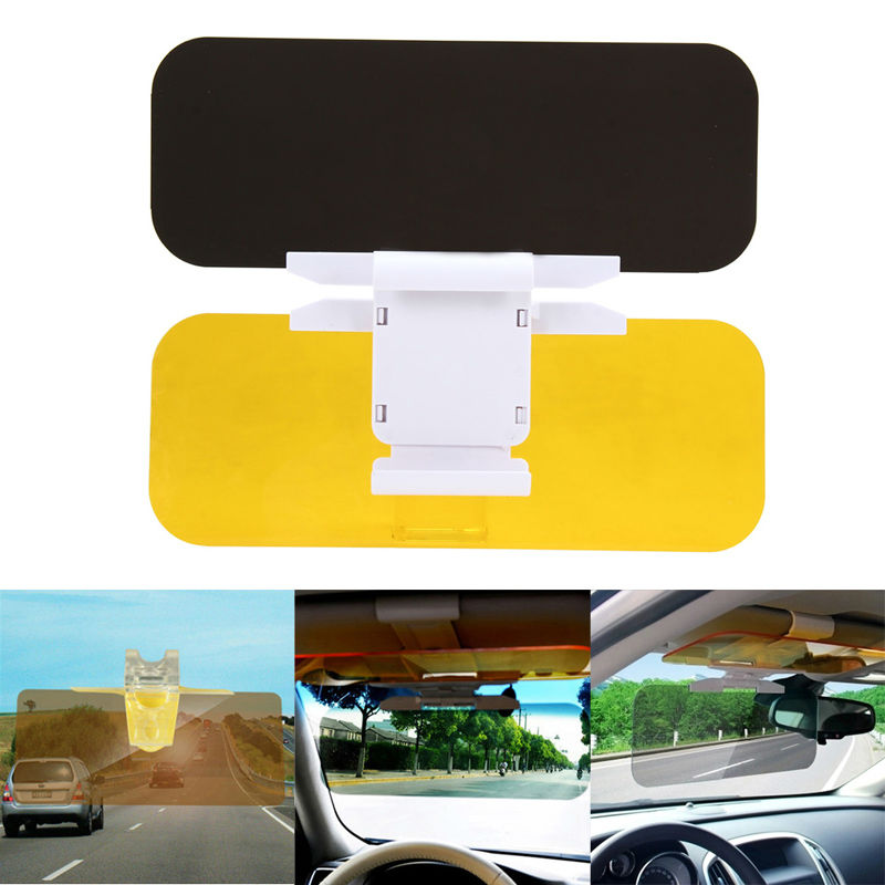 Auto Sonnenblende HD Auto Anti-Glare Dazzling Goggle Tag Nachtsicht fahren Spiegel UV Falten Flip Unten HD Clear View Visier Neue