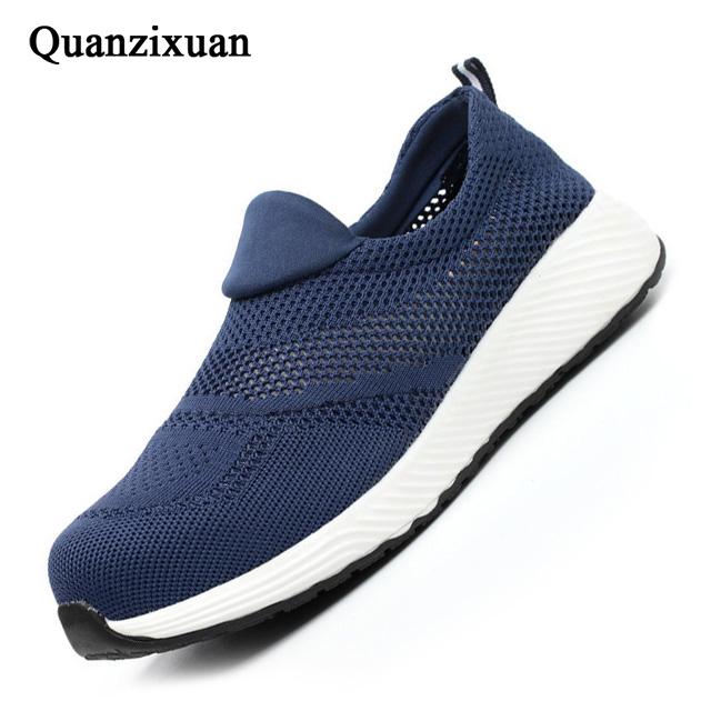 2019 Men Boots Male Safety Shoes Steel Toe Construction Protective Footwear Lightweight 3D Shockproof Work Sneaker Shoes For Men