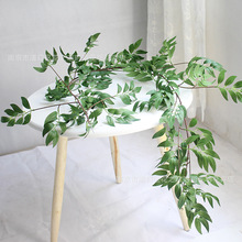 1.7M Artificial willow vine  Leaf Garland Plants Vine Fake Foliage Flowers Home Decor Plastic Flower Rattan