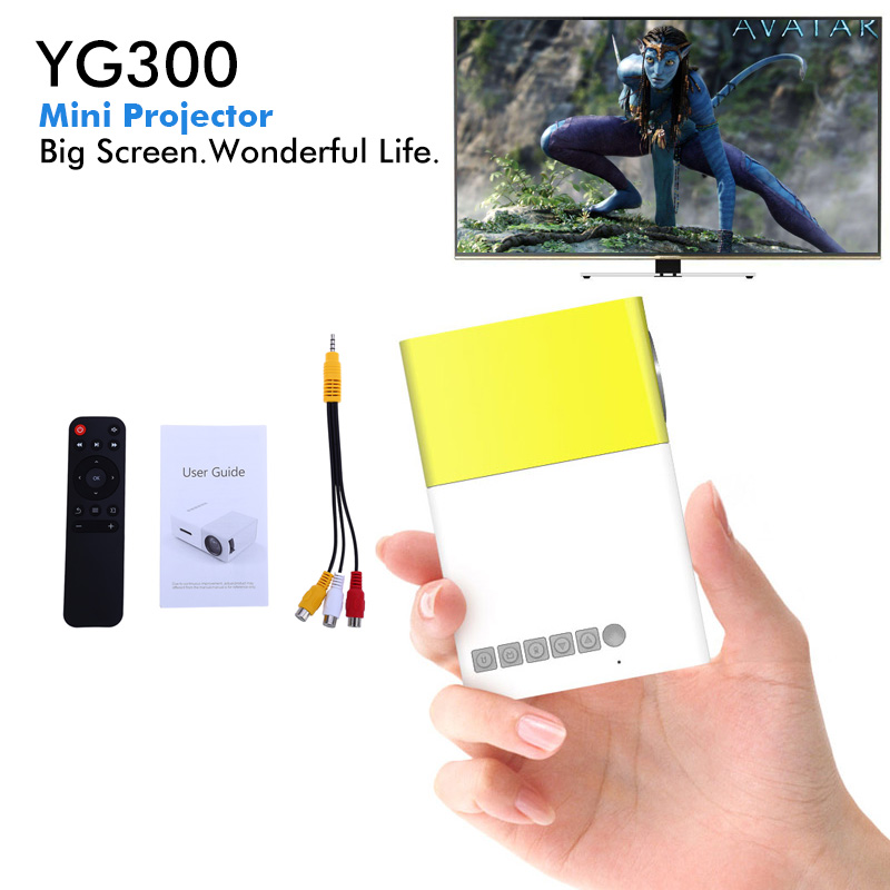 все цены на  YG300 LED Portable Projector 400-600LM 3.5mm Audio 320 x 240 Pixels HDMI USB Mini Projector Home Media Player  онлайн