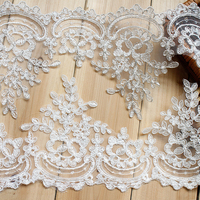 2017 New White Lace Accessories Bride Handmade DIY Material Wedding Ornaments Adorn Flowers Wide 15 5CM
