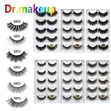 5 Pairs False Eyelashes 3D Natural Long Eye Makeup Mink Lashes Eyelash Extension Make Up Beauty Tools Wholesale