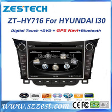 ZESTECH High performance dual-core HD digital touch screen car dvd for Hyundai I30 car dvd with radio/RDS/3G+factory