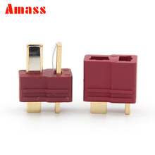2pairs Amass Non-Skip T Plug Male Female Bullet Connectors Plugs For RC Lipo Battery