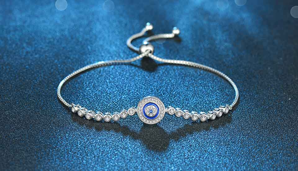 HTB1NythnLiSBuNkSnhJq6zDcpXaE - Luxury Brand Evil Eye Tennis Bracelet Hip Hop 925 Sterling Silver Bracelets for Women Blue Stone Beads Bracelet Mens Jewellery