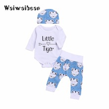Boys And Girls Baby Suits Newborn Three-Piece Childrens Clothing Letters Harem Autumn