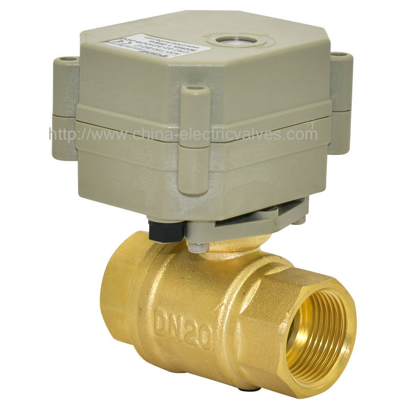 ФОТО Free shipping DN20 DC24V 5wires TF2-B2-C Electric Ball Valve 2-Way 3/4'' Brass Valve With Indicator and Signal Feedback