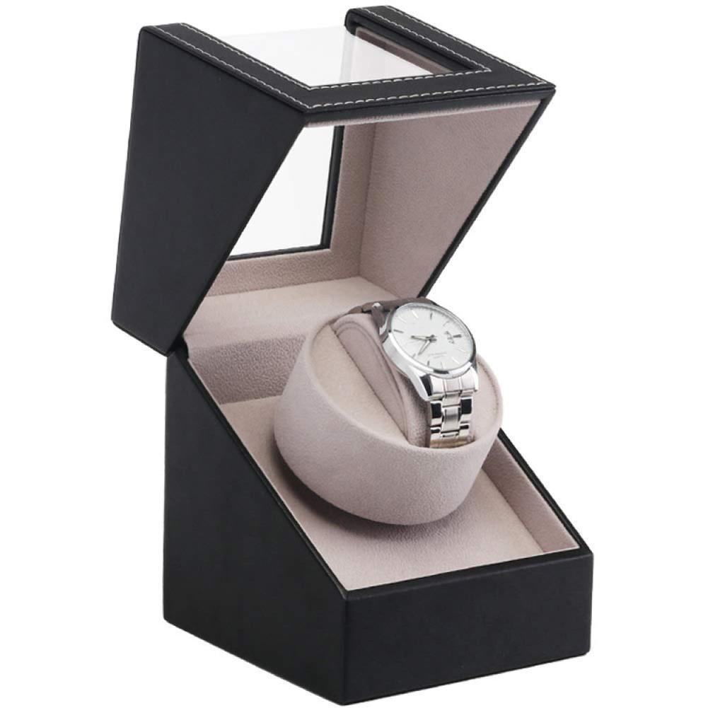 À prova de poeira Elétrico Automático de Enrolamento Único Watch Winder Box Storage Case Decor Auto-liquidação de relógio caixa de relógio de armazenamento caixa de enrolamento