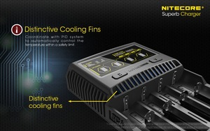 Image 4 - Nitecore SC4 インテリジェント高速充電極上充電器 4 スロット 6A 合計出力互換 imr 18650 14450 16340 単三電池