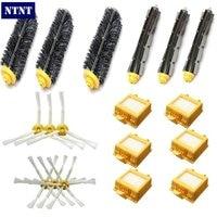 NTNT HEPA Filter Side Brush Kit Bristle And Flexible Beater Brush Suitable For IRobot Roomba 700