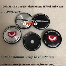 Free shipping 100pcs Car Emblem badge Wheel hub Caps For bmw 60mm 2 36inch for Vossen