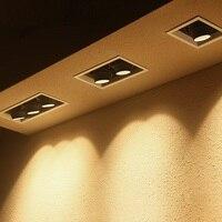 Lukloy led spotlight 1 cabeça multi cabeça simples spotlight embutida abertura clarabóia sala de estar teto corredor spotlight|Holofotes de LED| |  -
